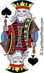 King of Spades Isolated French Version.eps - King of spades...