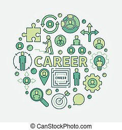 Career opportunities colorful illustration