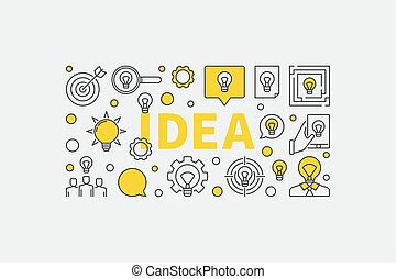 Idea concept illustration - Idea illustration - vector...