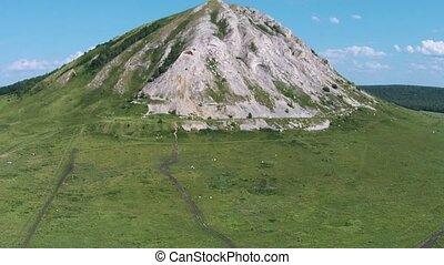 Aerial view of a pearl of Bashkortostan - Shihan Toratau. -...
