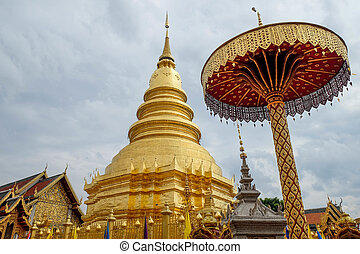 wat phra that haripunchai is a lanna style temple in lamphun...