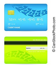 bank card with tire design, vector, eps10