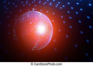ball - disco ball background close up