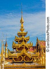 Shwe Inn Dein Pagoda Inle Lake Shan state Myanmar - stupas...