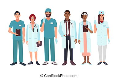 Set of doctors different specialization, nurse, surgeon,...