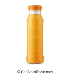 Orange juice bottle template.