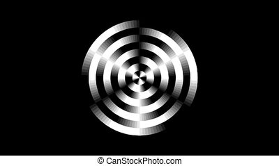 Graphic2-33 - Motion background with moving geometric shapes...