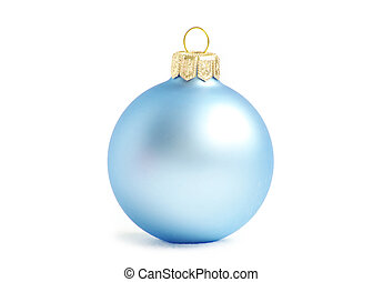 christmas balls - blue christmas balls isolated on a white