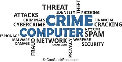 word cloud - computer crime - A word cloud of computer crime...