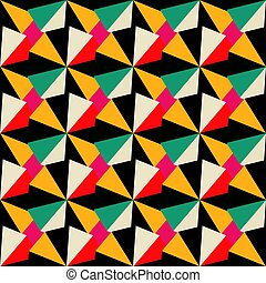 geometric seamless pattern in retro colors