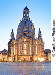 Frauenkirche cathedral in Dresden, Germany