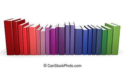 Color coordinated books - A row of color coordinated books....
