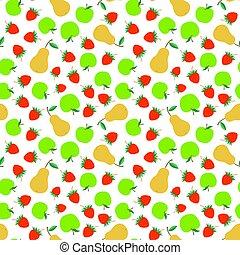 Vector Fruits Seamless Pattern - Fruits seamless texture....