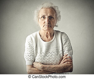 Mad lady - Old lady being mad