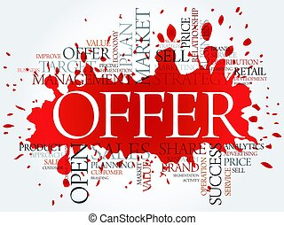 Offer word cloud, business concept
