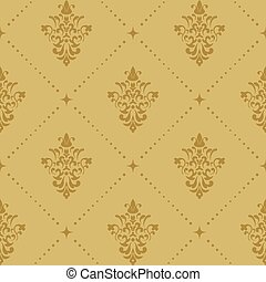 Aristocratic baroque wallpaper pattern. Victorian retro...