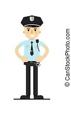 Police officer in uniform vector illustration