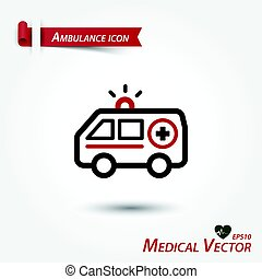 Ambulance icon . Medical vector .