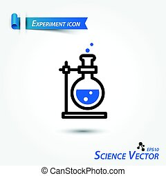 Experiment icon . Scientific vector .