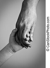 Adult Holding Hand of a Child Family Love