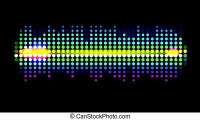 Dot Sound wave - Colorful dot Sound wave