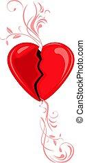 Broken heart. Decorative element for design. Vector...