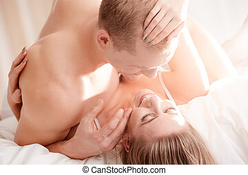 Couple after sexual intercourse - Happy fulfilled couple...