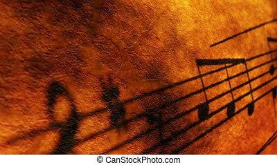 musica, foglio