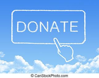 Donate message cloud shape