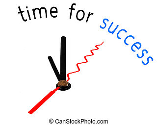 time for success  , clock concept