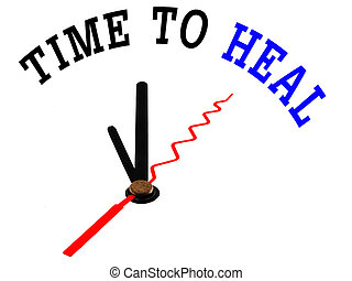 time to heal  , clock concept