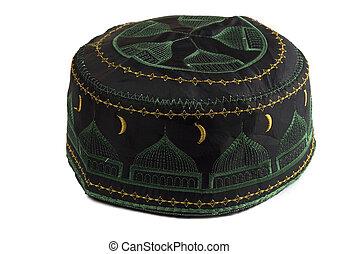 Tubeteika - traditional oriental muslim skullcap isolated on...