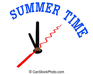 summer time ,clock concept