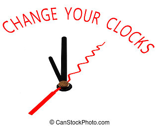 change your clocks ,clock concept