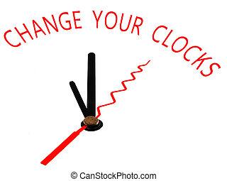 change your clocks ,clock concept