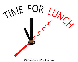 time for lunch ,Clock concept
