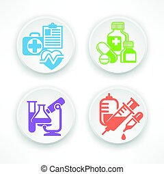 Set of medicine circle icons