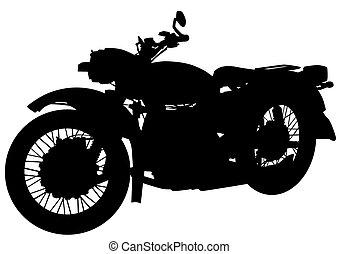 Vintage motor bike seven - Old big bike on white background