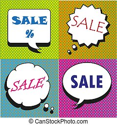 Great Sale speech bubbles collection