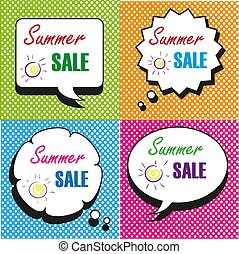 Summer Sale speech bubbles collection