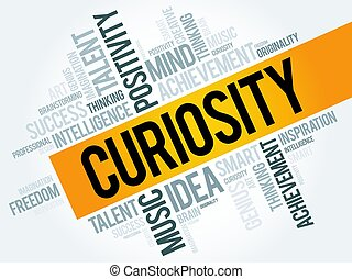 Curiosity word cloud, business concept