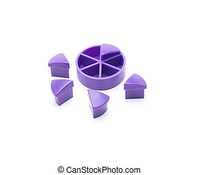 purple circle - Colored triangles, which are arranged in a...