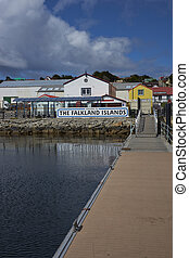 Welcome to the the Falkland Islands - Jetty used by visitors...