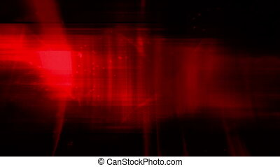 Red streaks and wire frame looping CG abstract animated...