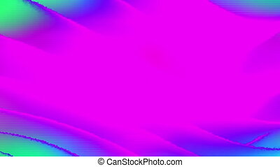 Pink blue green ripple looping CG animated abstract background