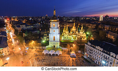 St. Sophia Cathedral, on Sophia Square in Kyiv, Ukraine.
