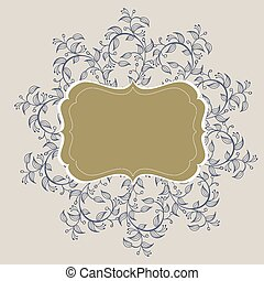 flourish calligraphy vintage frame. Illustration vector hand drawn EPS 10
