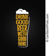 beer glass concept slogan background 8 eps