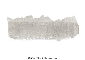 Newspaper Banner - Banner of torn newspaper, isolated on...