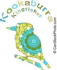 Image Laughing bird - Laughing bird. Australian kookaburra,...